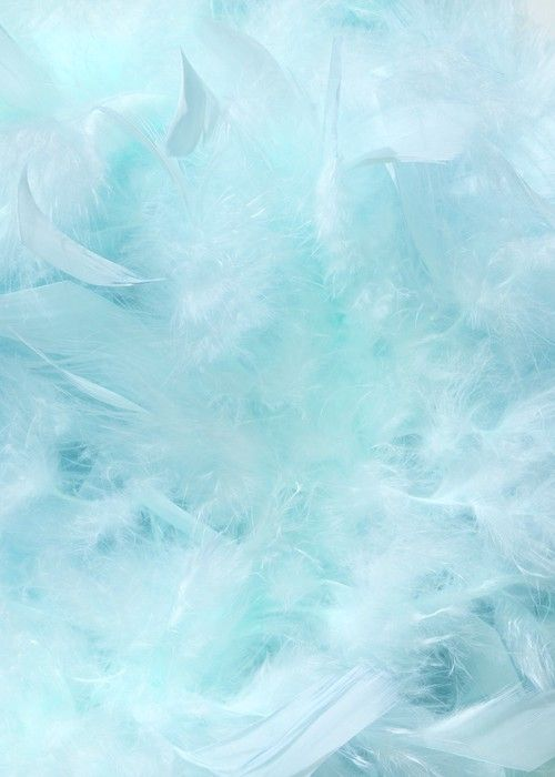 Cloudy Blue Sky Fluffy Feather Background Self Adhesive Wall Mural