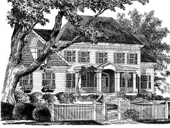 Eplans Colonial House Plan Wentworth Heights From The