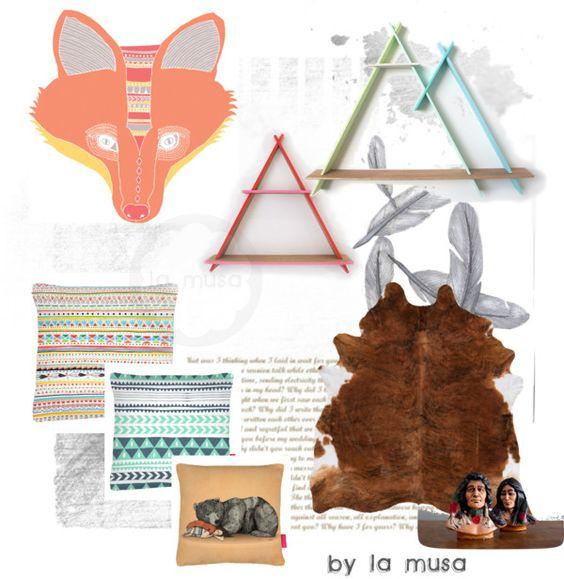 Navajo. Estilismo de decoración al estilo de La Musa