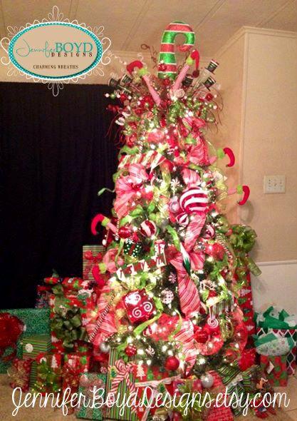 Christmas Tree Decor by Jennifer Boyd Designs.  www.facebook.com/JenniferBoydDesigns www.etsy.com/shop/JenniferBoydDesigns