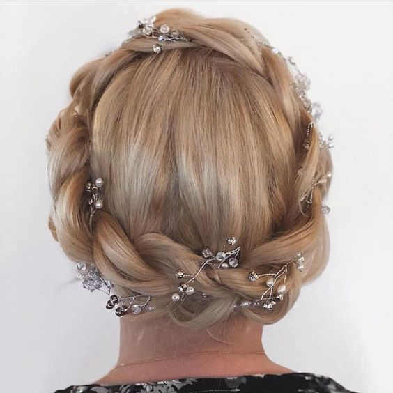 Dutch crown braid hairstyle