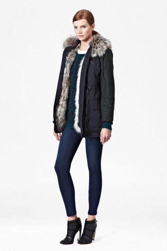 Rhumba faux fur parka coat