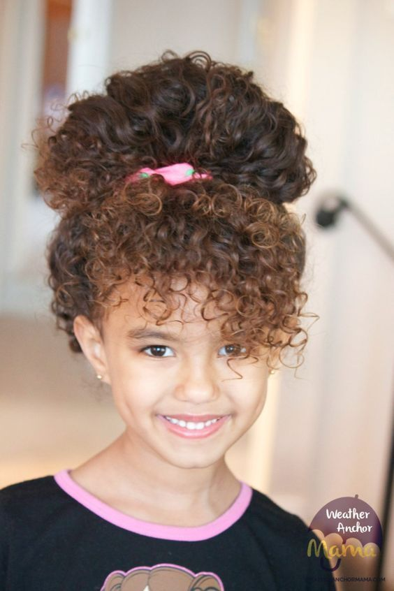 Simple Curly Mixed Race Hairstyles For Biracial Girls Hair