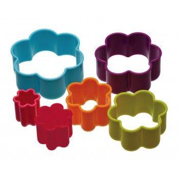 Kitchen Craft Six Piece Flower Cookie Cutter Set