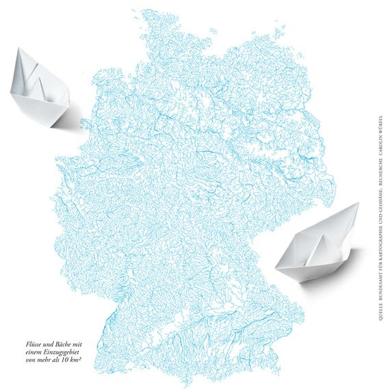 Rivers and lakes of Germany - #map by Jörg Block för Die Zeit