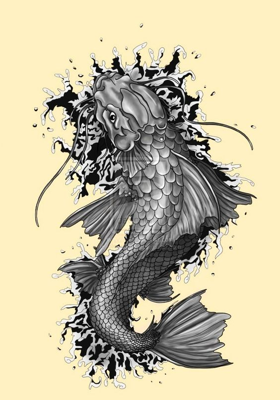 Free downloadable tattoos coy fish tattoo kinds of tattoos for Dragon koi fish for sale