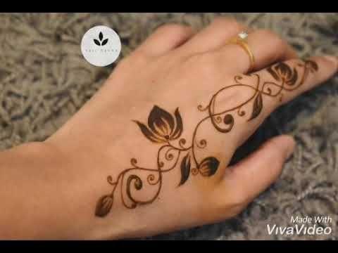 تعليم نقش حنا خفيف للمبتدئات خطوه بخطوه Youtube In 2021 Henna Hand Tattoo Hand Henna Hand Tattoos