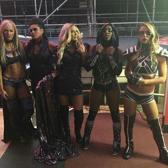 Summer Rae, Tamina, Lana, Naomi, Emma Team BAD and Blond