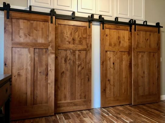 Krosswood Doors 32 In X 80 In Krosswood Craftsman 3 Panel Shaker Solid Wood Core Rustic Knotty Alder Interior Door Slab Kw 325 2868 Slb The Home Depot In 2020 Garage Door Design Double Sliding