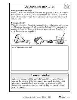 Worksheets Separation Of Mixtures Worksheet worksheets on pinterest separating mixtures 2