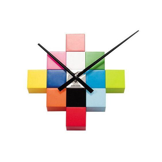 Rubix Wall Cube Wall Clock By Karlsson Wall Cubes Wall Clock Diy Clock