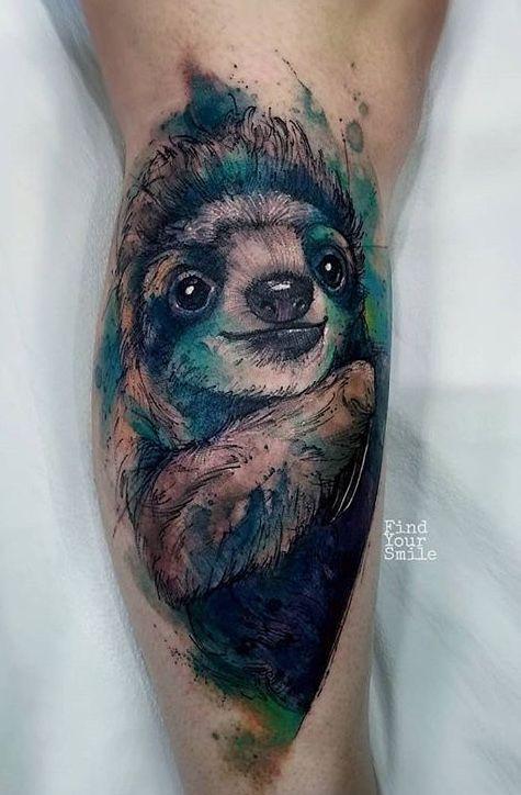 Russell Van Schaick Findyoursmile Sloth Tattoo Sloth Tattoo Tattoos Animal Tattoos