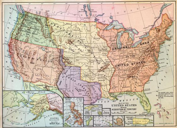 In The Louisiana Purchase Ceded The Territory In Yellow - Map of us territories in 1803