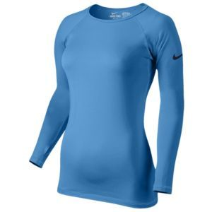 Nike Pro Hyperwarm Crew II - Women's - Night Blue/Cool Grey