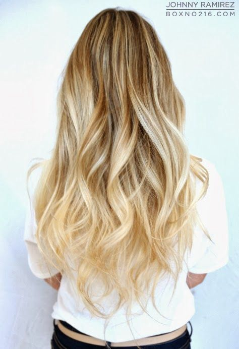 love the blonde on blonde ombré! Not a fan of it with brown hair ...