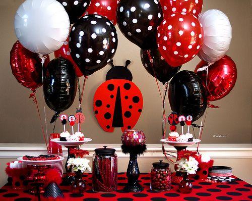 Lady Bug Birthday Party.  1st Birthday.  E's First Birthday!