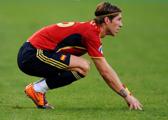 Sergio Ramos Photos Photos - Sergio Ramos of Spain reacts during the FIFA Confederations Cup match between Spain and Iraq at Free State Stadium on June 17, 2009 in Bloemfontein, South Africa. Spain won the match 1-0. - Spain v Iraq - FIFA Confederations Cup