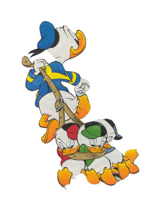 Donald Duck and nephews huey, dewey and louie. ... Mike, Cadence, Rylee, and Amelia