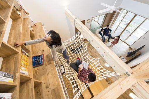お客様施工事例 ハンモックのある平屋 ネオ平屋 Or 1階主寝室の家