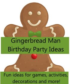 Gingerbread Man Birthday Party Ideas. I am going to have to do this for Jax bday this year.