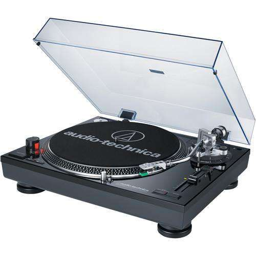 Audio Technica Consumer Direct Drive Professional Dj Turntable With Usb Output Direct At Lp120bk Usb Black Stereo Turntable Usb Turntable Audio Technica