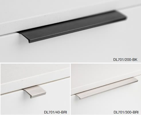 handle that fits on top of the door or drawer to give a minimalist