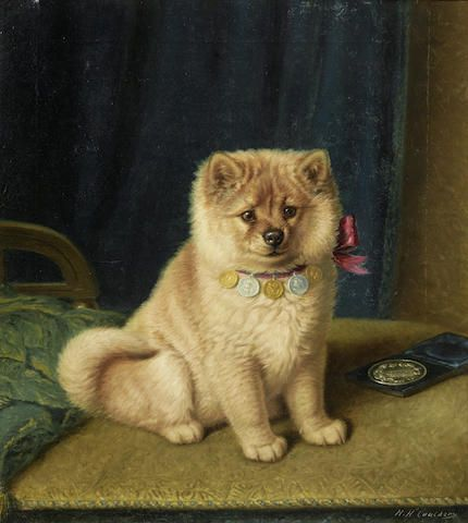 Horatio Henry Couldery (British, 1832-1893) A prize winning Chow Chow 22 1/4 x 20 3/4in (56.5 x 52.5cm)