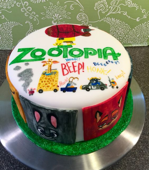 Zootopia themed cake.: