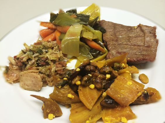 Fillet Mignon, Golden Beets With Pistachios, Brussels Sprout Slaw, And ...