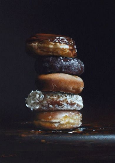 Donuts // Larry Preston // Oil on Canvas: Donuts Oil, Donuts Larry, Preston Donuts, Donut Tower, Cider Doughnuts, Donuts 2011, Oil Painting, Larry Preston