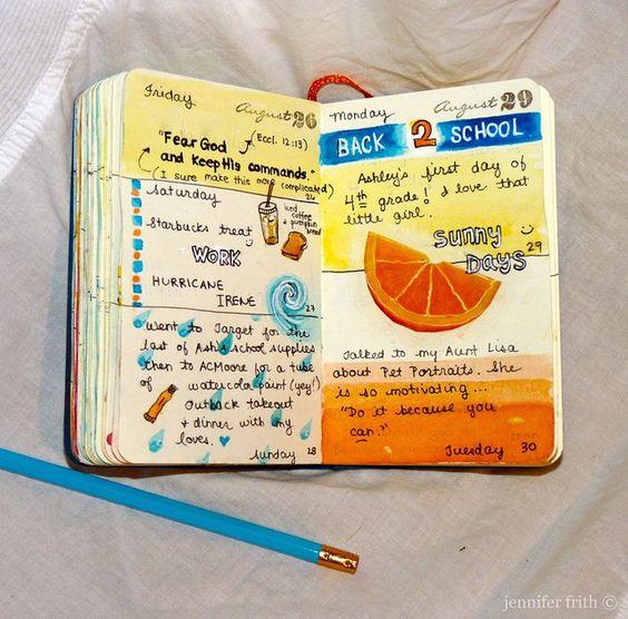 sketchbook journal - August