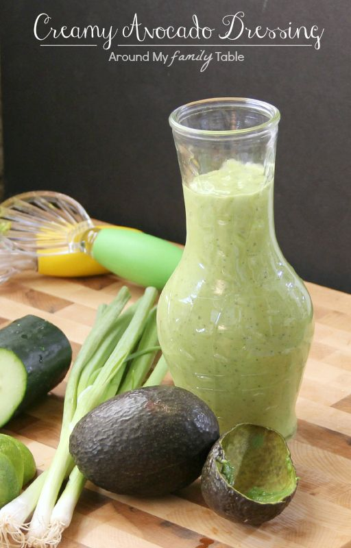 Creamy Avocado Dressing #avocado #dressing #recipe