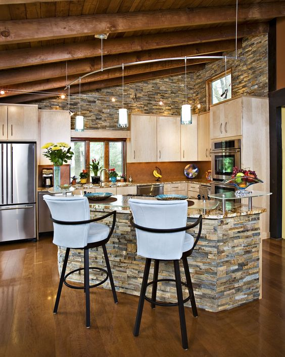 Faux Stone Panels For Kitchen Island