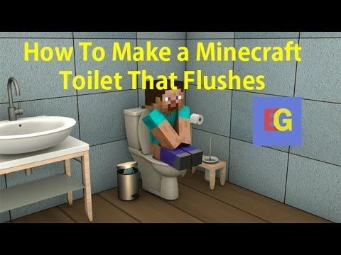 minecraft toilet. Minecraft  How To Make A Bathroom Tutorial YouTube Computer gams Pinterest Toilet and Tutorials