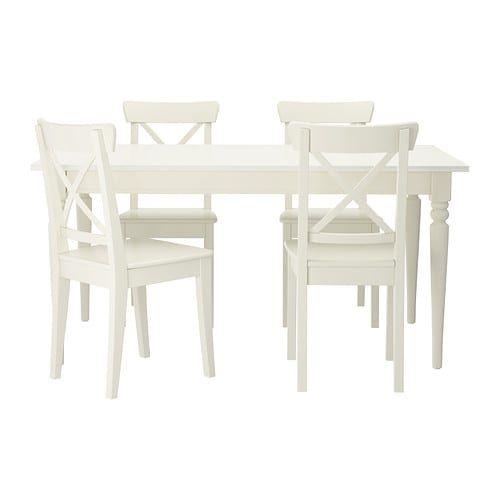 Ingatorp Ingolf Table And 4 Chairs White Tavolo Da Pranzo