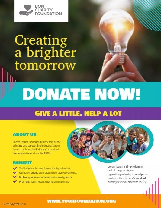 Charity Donation Fundraising Flyer Poster Template Fundraising Poster Fundraiser Flyer Charity Poster