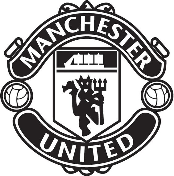 Manchester united logo black and white theme and for Manchester united coloring pages