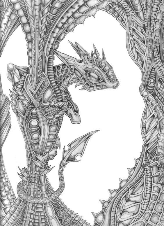 Bio mechanical dragon by Gaskinmoo