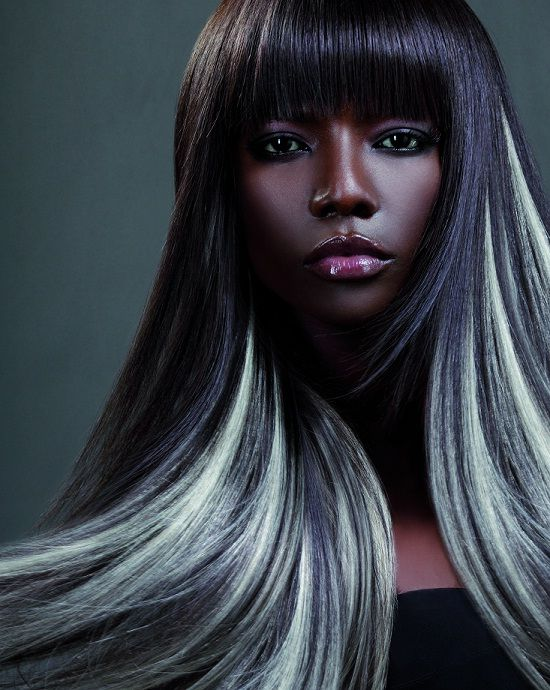gray hair extensions... ideas during transition & grow out ...