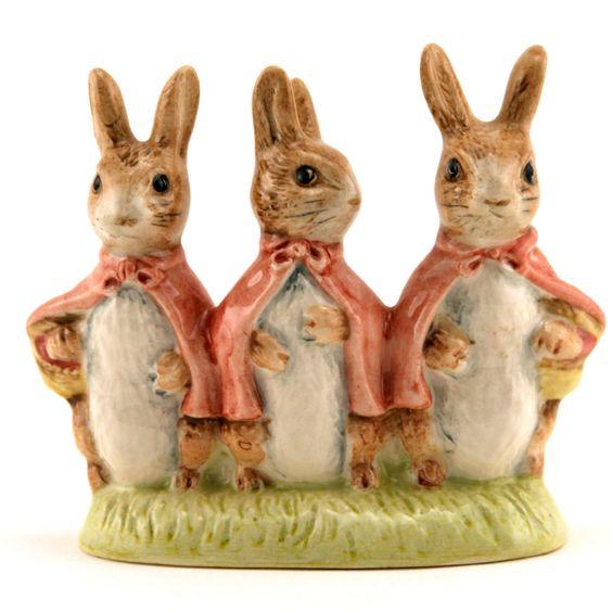 Royal Doulton Beatrix Potter Figurines   ... Flopsy - Mopsy & Cottontail - Royal Albert - Beatrix Potter Figurine
