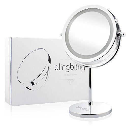 7inch 10x Magnifying Lighted Makeup, Kedsum Flexible Gooseneck 6 8 10x Magnifying Led Lighted Makeup Mirror