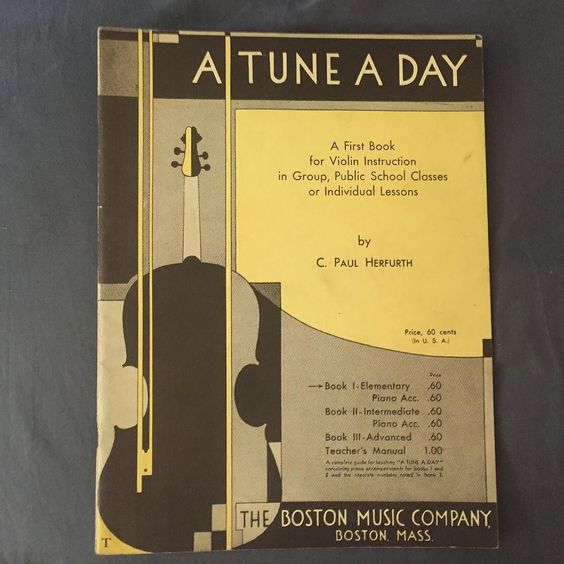 1927 A Tune A Day A First Book for Violin by C. Paul Herfurth NEVER USED FOR A STUDENT $7 plus shipping  #violinmusic #cpaulherfurth #homedecor #music #sheetmusic #midcentury by goplethora