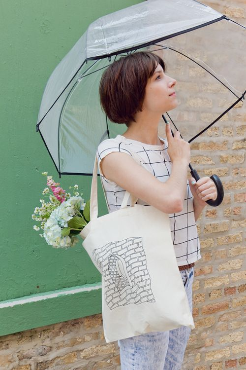 We love this look from our shoot last week with the new Mortar & Mirage canvas tote by Daniel Guerrero Fernández!