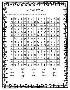 Printables 1 2 Spelling grade 1 2 spelling phonic phonetic 46 word search sleuth bundle words and phonics