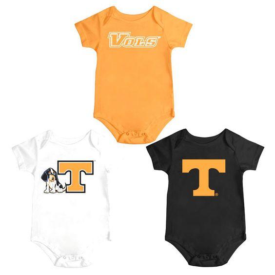 Tennessee Volunteers Colosseum Infant Triple Play 3-Pack Bodysuit Set - Tennessee Orange - $31.99