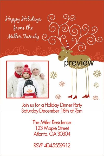 Ornament Exchange Christmas Party Invitations!!! Christmas - christmas dinner invitation template free