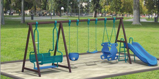 Metal Swing Sets Tree Houses And Swing Sets On Pinterest