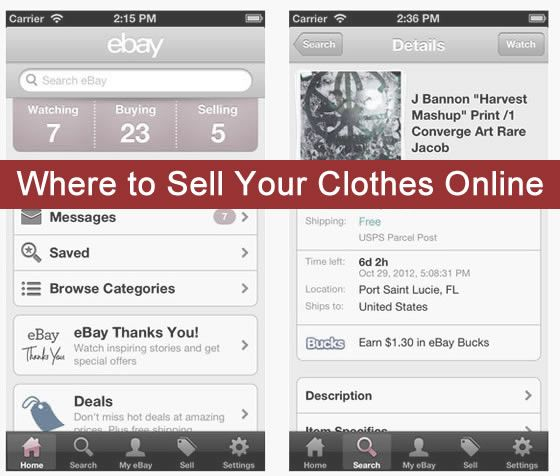 Five Websites To Sell Your Clothes Online D I Y