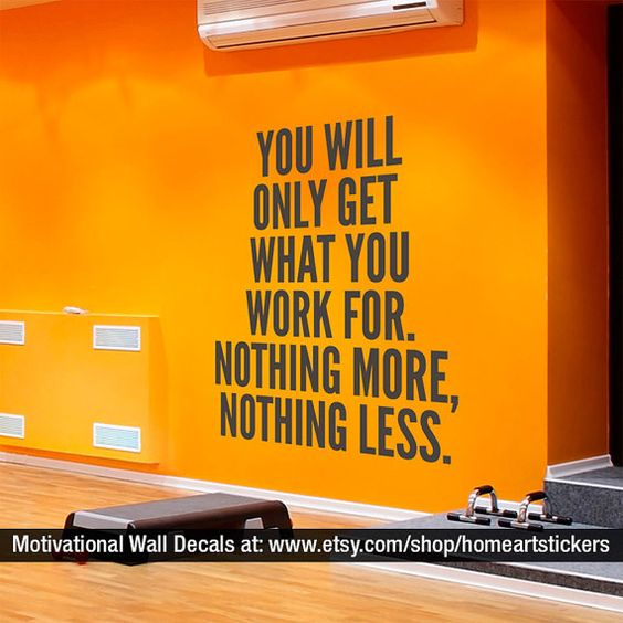 Sports Decals - Gym Stickers - Gym Wall Decal - Gym - Motivational Quote - Sports Decor - Workout Stickers - Inspirational Quote - SKU:YWOG