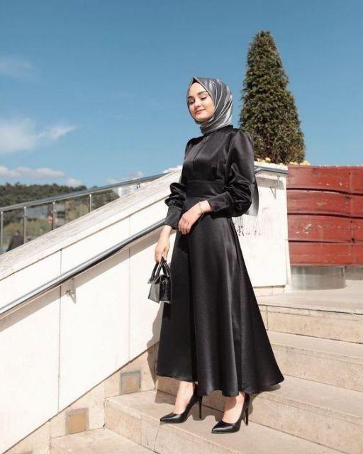 Pin Oleh Kavin Di Pakaian Gaun Prom Hitam Casual Hijab Outfit Pakaian Wanita